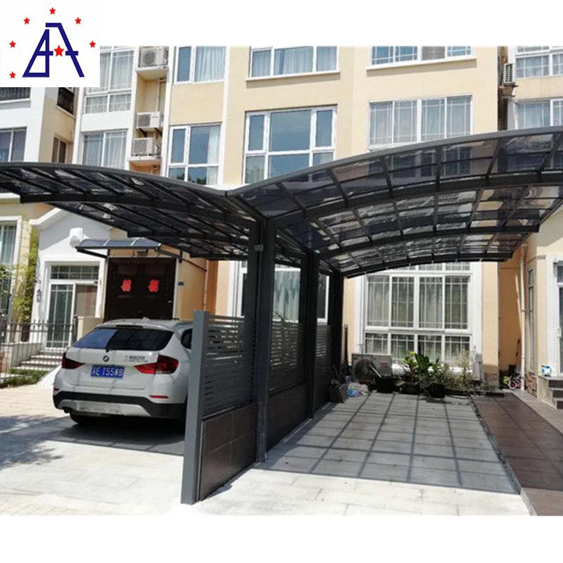Aluminum Metal Poles StructureRoofing Car Parking Sun shed Canopy tent Roof Design