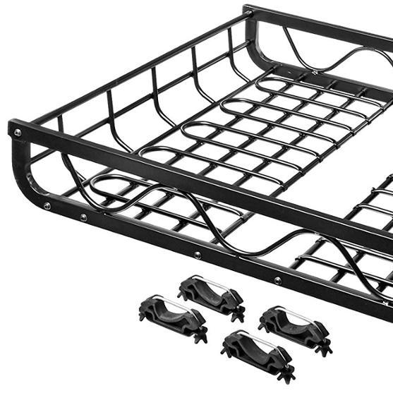 Aluminum Roof Rack Cargo Carrier in Black