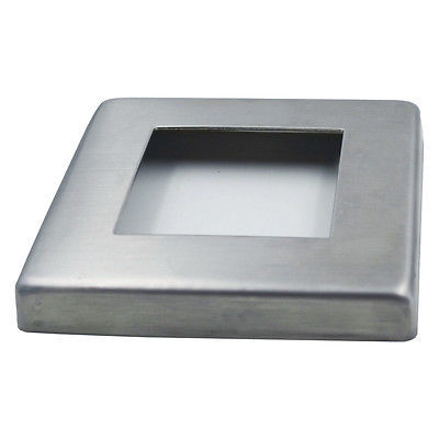 Custom design aluminum mill finish fence post base plate