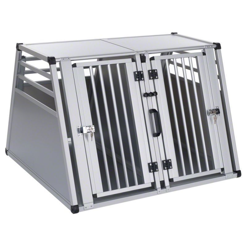 Aluminum double cog cage,aluminum folding dog cage