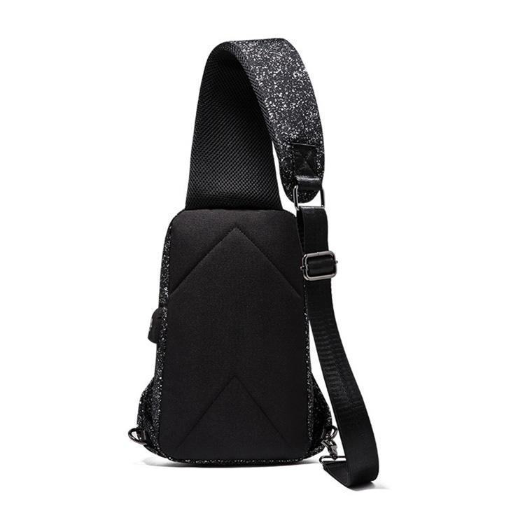 2020 Fashionable customized color waterproof nylon Leather shoulder bag for men mini sungle Crossbody Messenger Sling Bag man