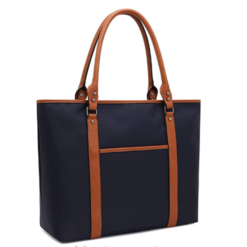 Laptop Bag for Women Lightweight Nylon Work Tote Bags Business School Computer Shoulder Bag Large Capacity Briefcase