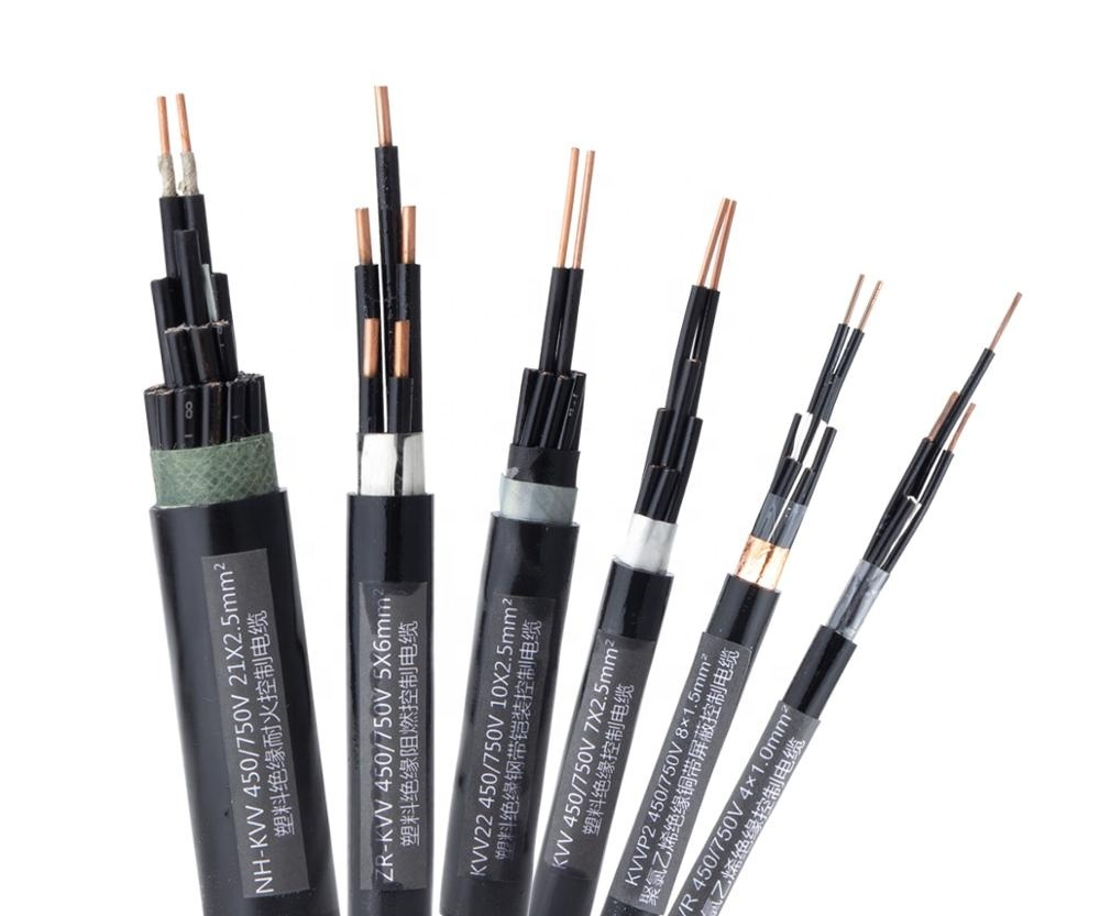 Guangdong cable manufactured4 Cores 2.5mm KVV 450/750V PVC Control Cable for power station industrial