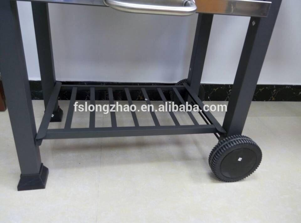 Deluxe Design of Wood Pellet Charcoal Grills BBQ Grills with a Trolley Cart for Outdoor Cooking