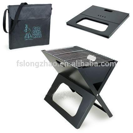 Smokeless X shaped Notebook Foldable BBQ charcoal grill