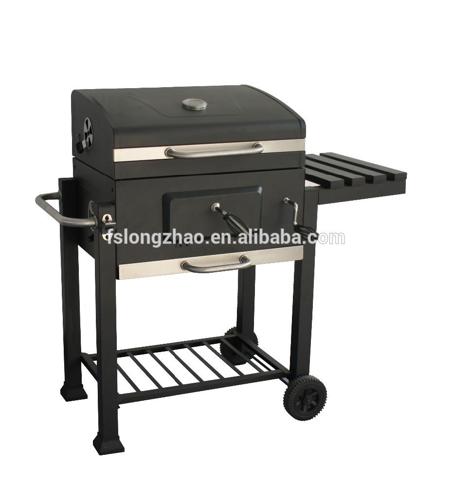 Extra large home garden folding portable charcoal barbecue grill