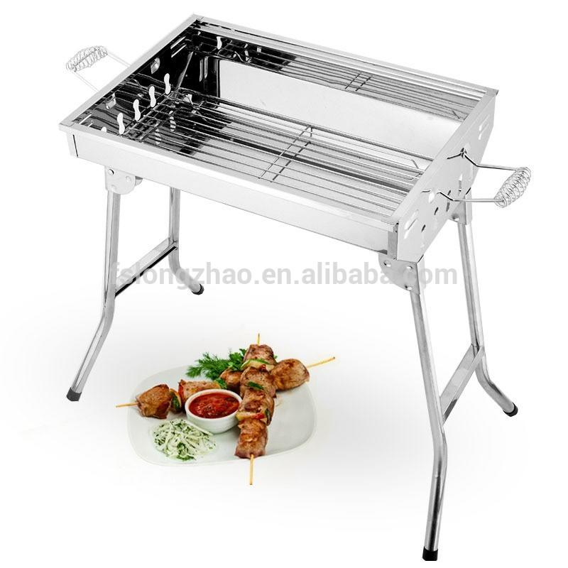 Noble parrilla plegable Portable Steel BBQ Grill Plegable Parrilla
