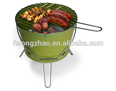 Bucket Charcoal BBQ Grill For Outdoor