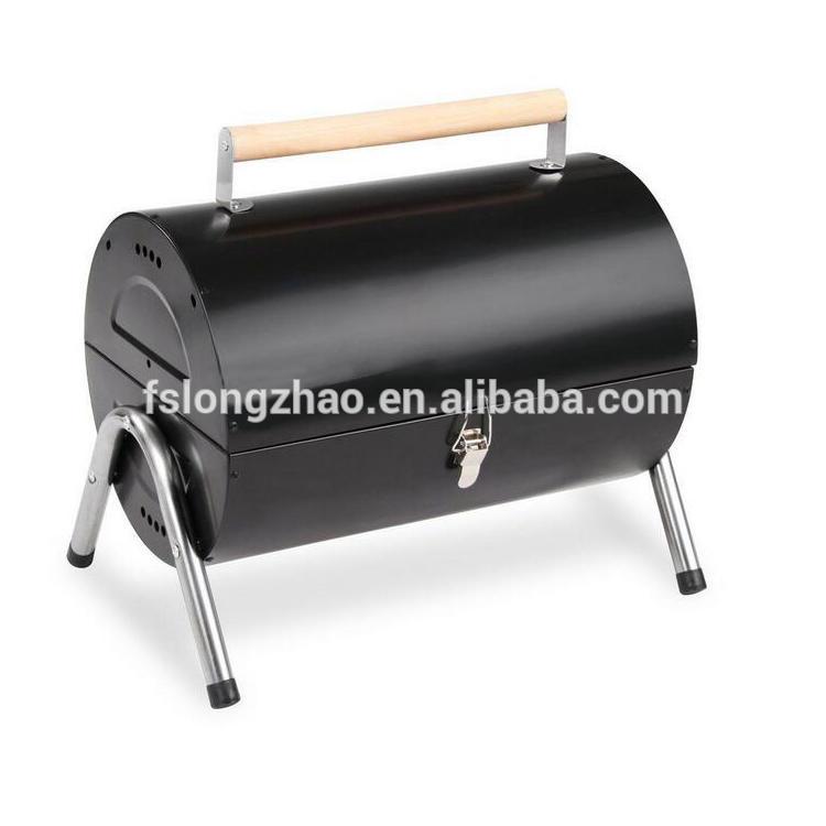 Metal Material barrel folding portable charcoal bbq grill