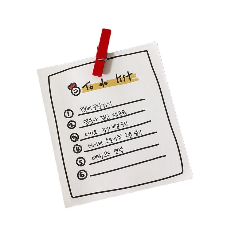 Korea Style Simple Tear off Notepad 50 Sheets Custom Printed To Do List Notepad