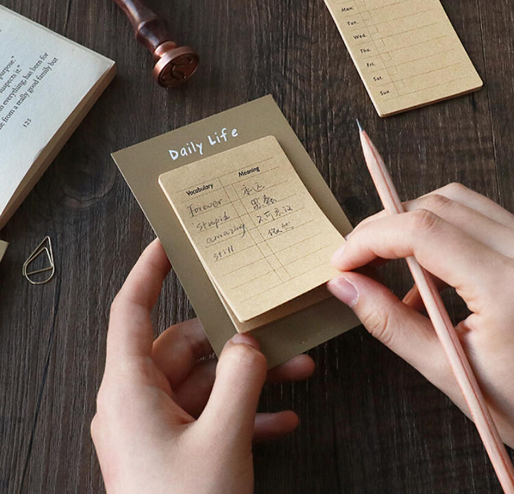 product-Premium Wholesale Kraft Paper Color Daily Weekly Planner To Do List Notepad-Dezheng-img-1
