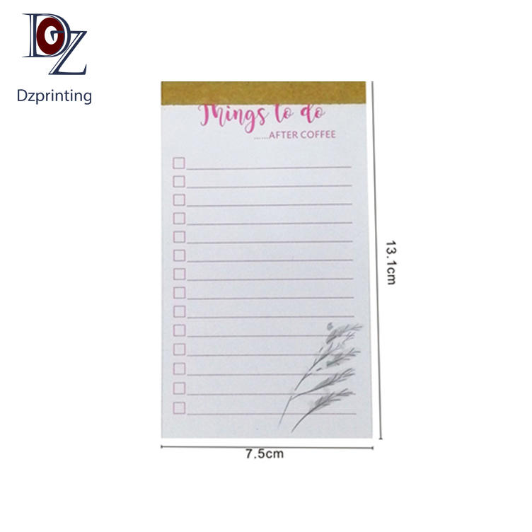 Custom Tear-Off Notepad Sticky Meno 100 Pages Daily Planner To Do List Notepad With Logo
