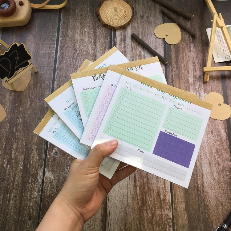 product-Dezheng-4 Design Custom Printed Sticky Notepad 50 Sheets To Do List Notepad With Clear PVC C-1