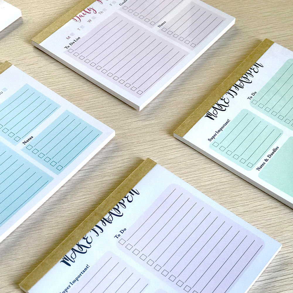 30 Pieces A Set 2 Size Custom Printed Planner To Do List Notepads With Different Designs