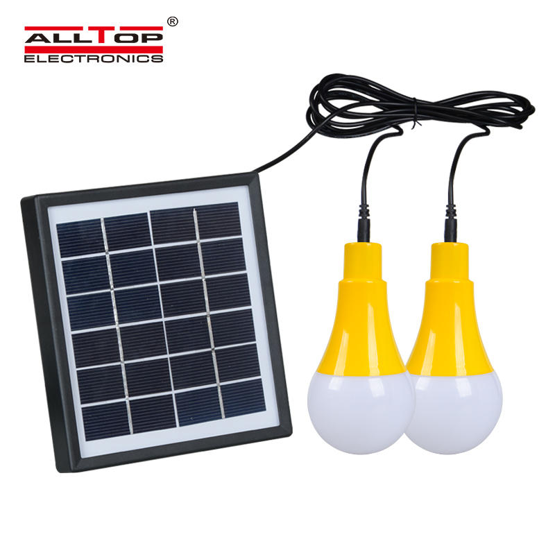 ALLTOP Factory direct selling camping outdoor portable solar rechargeable 5Watt Emergency Bulb light