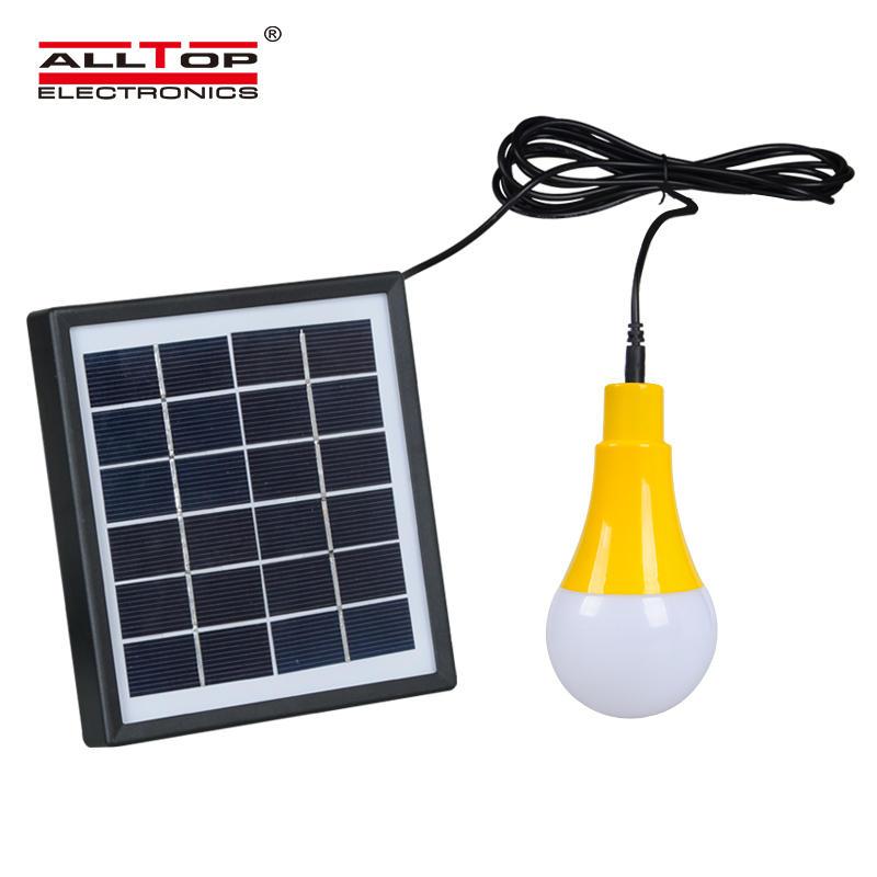 ALLTOP solar battery rechargeable outdoor indoor 5w solar led bulb light