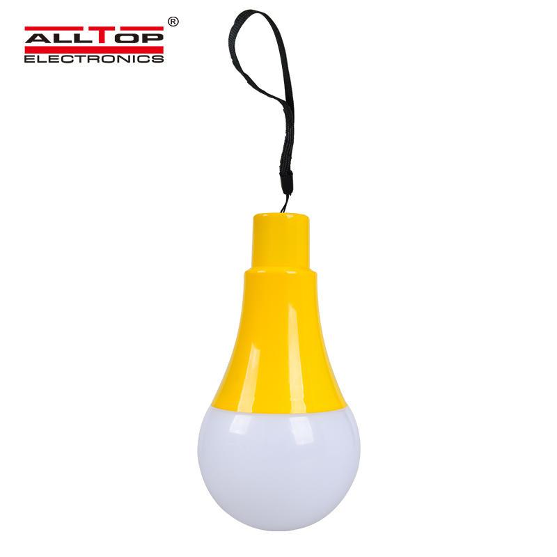 ALLTOP Hot Sale Rechargeable Portable Lamp Solar Home Bulbs 5W Solar Led Emergency Light