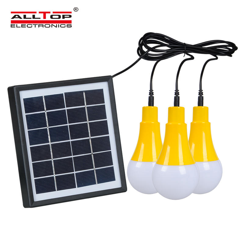ALLTOP solar battery rechargeable outdoor indoor 5w solar led bulb light