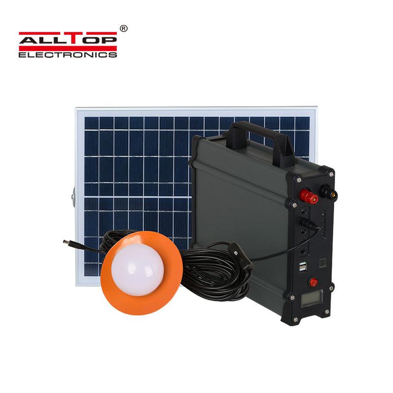 ALLTOP High quality electricity generating Off-Grid solar system 20w 30w 50w 100w solar lighting panel power system
