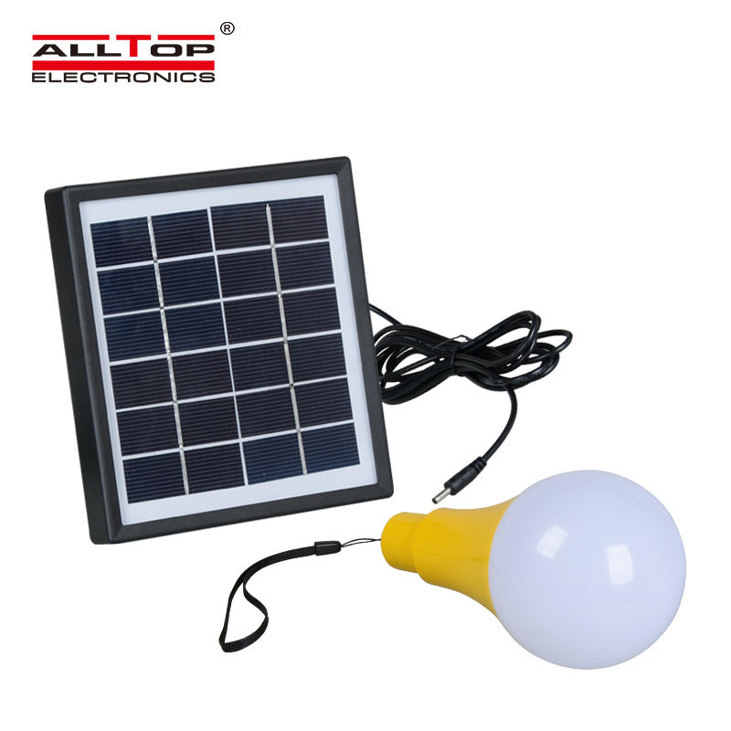 ALLTOP Energy Saving Portable Lamp Solar Home 5W Bulbs Solar Led Emergency Light