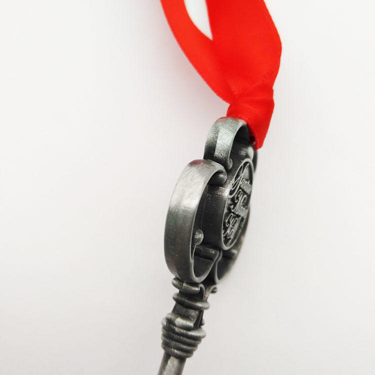 Christmas ornament big size antique gold silver brass santa keys for Festive