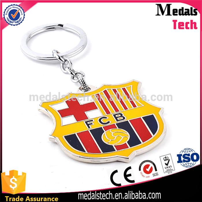 Luxury Design Your Own Logo hard enamel Metal football club keychain