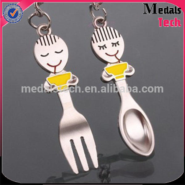 High quality funny Cartoon metal couple item lucky rabbit foot keychain
