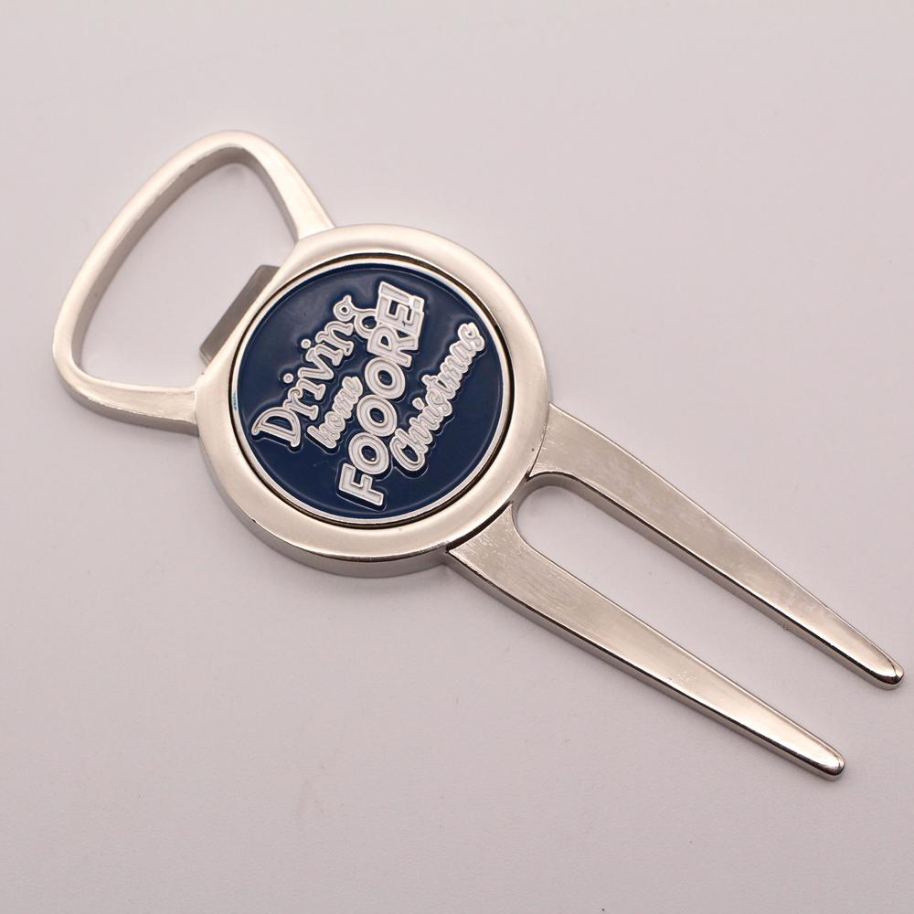 High quality golf accessories zinc alloy custom gold metal divot tool with golf ball marker