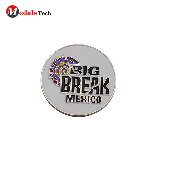 Custom pocket soft enamel mexico metal clubgolf ball marker