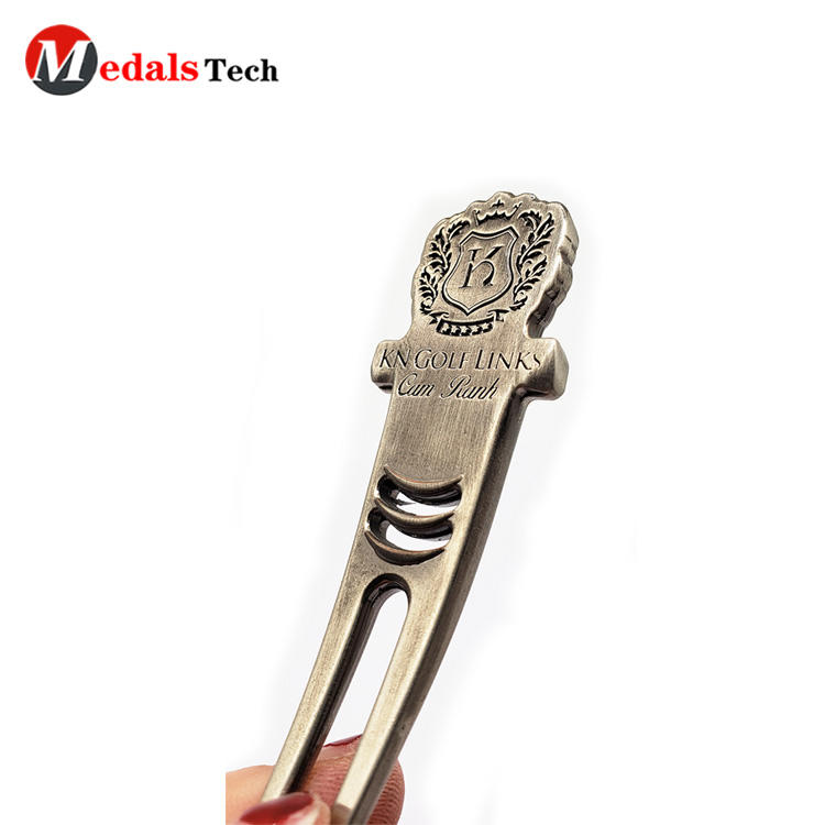 Hot selling blank silver custom metal club repair golf divot tool