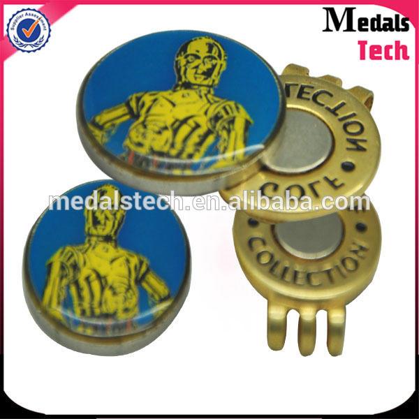 MedalsTechFree samples zinc alloy custom metal hard enamel golf hat clip