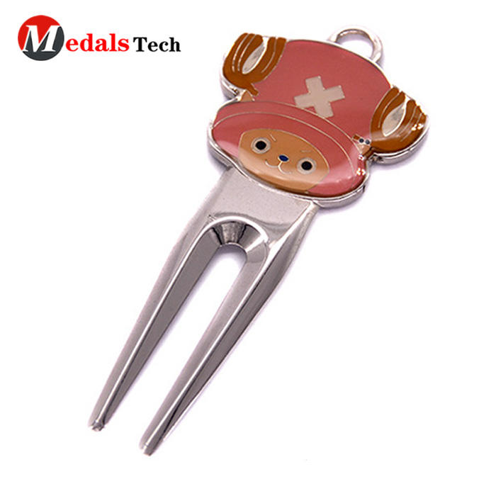 Cheap custom pitch forkpocket golf divot repairtool with cap clip