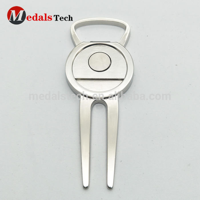 New product bulk metal silver pocket divot repair tool with ball marker