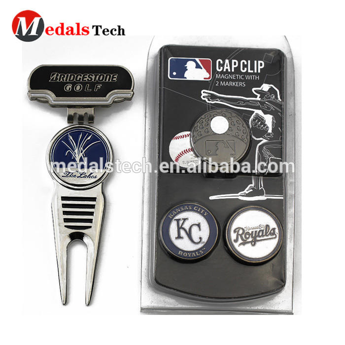 2020 top quality silver plating golf divot repair tool for gifts