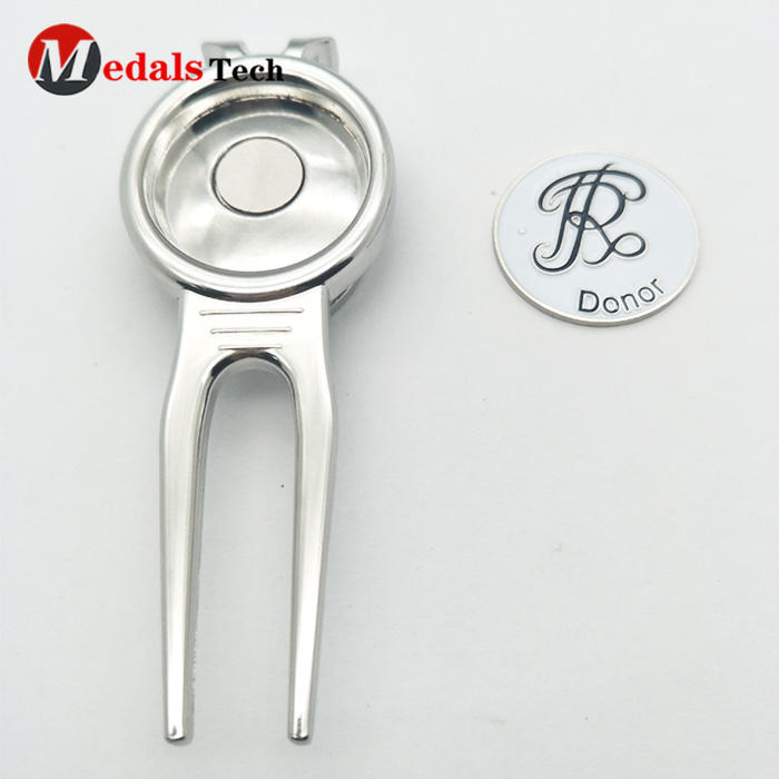 Cheap custom bulk club metal golf divot tool and ball marker