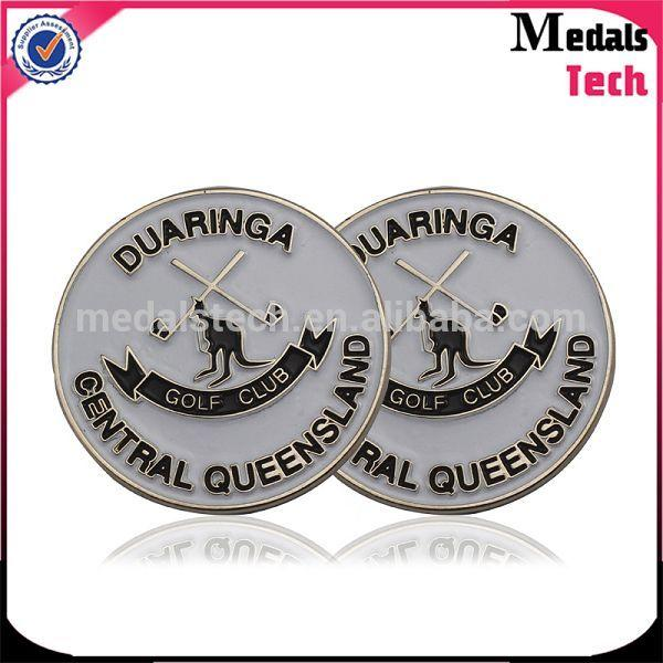 Popular golf used magnetic golf ball marker with personalized logo