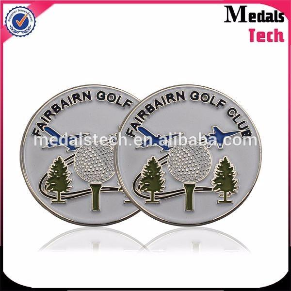 Free design custom own beautiful blank sport golf ball marker for golf