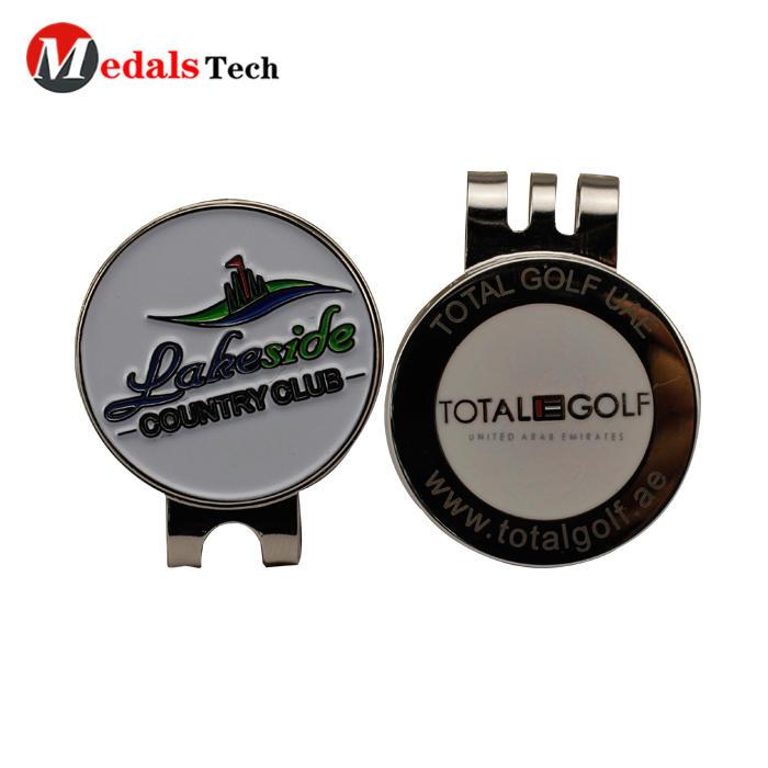 Promotional golf club hard enamel custom magnetic golf ball marker hat clip