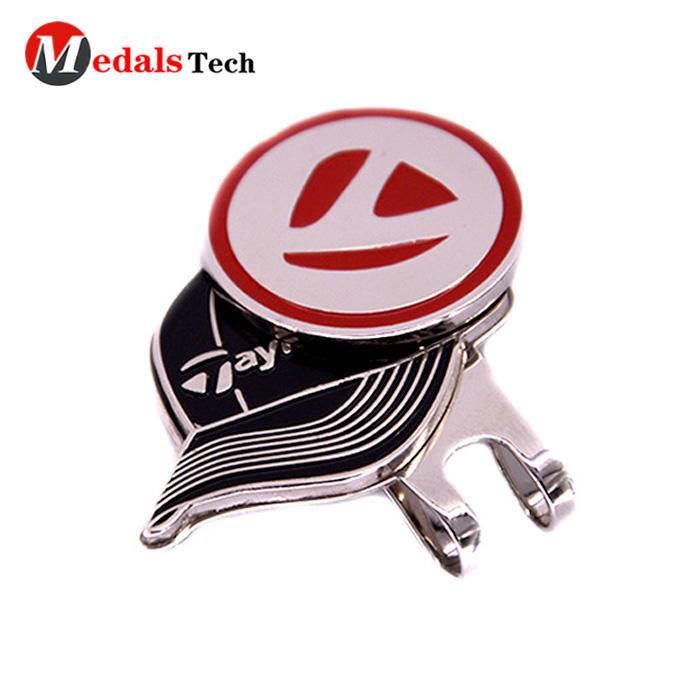 Cheap custom beautiful silver rihneston souvenir clubgolf cap clip