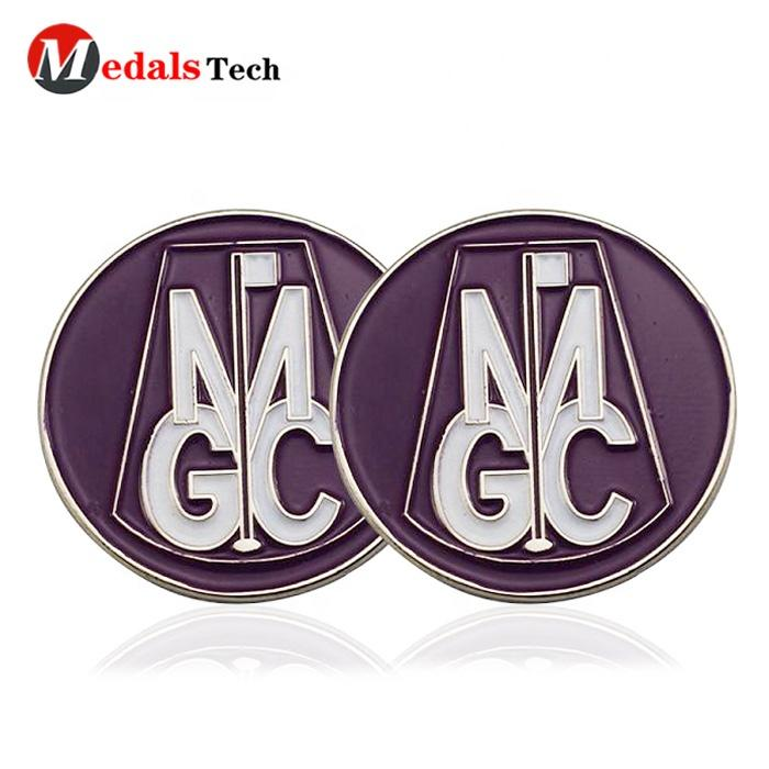 Wholesale promotion eco-friendlyquality cheap metal golf ball marker custom with low price