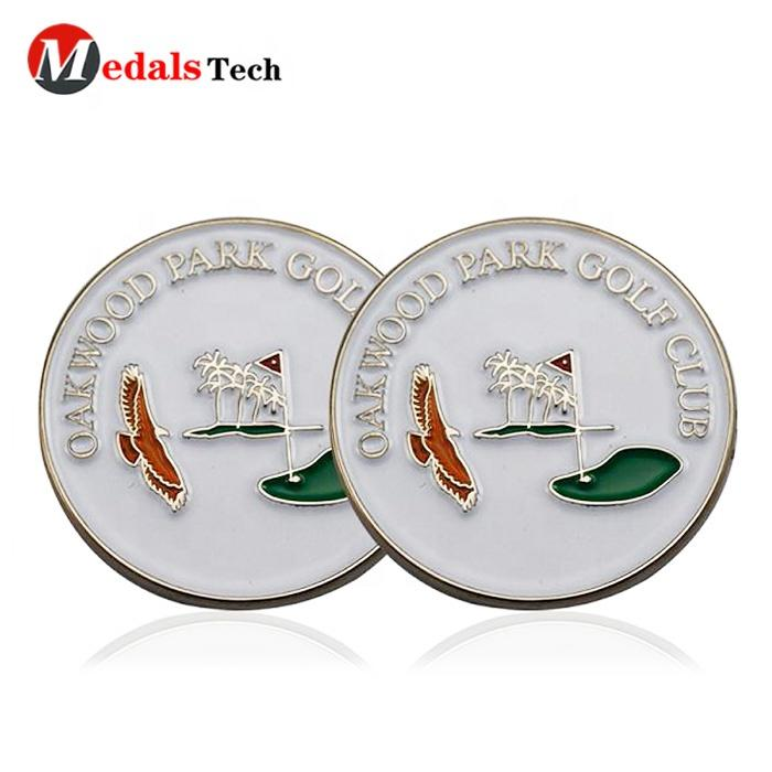 High quality die casting soft enamel hat clip cheap golf ball marker for golf divot tool