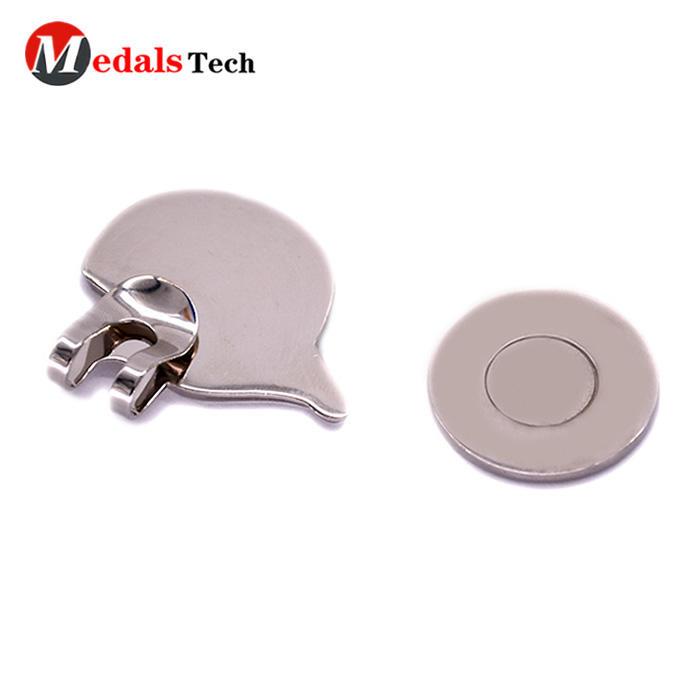 Custom design sport golf ball marker mini cap hat clip with magnet