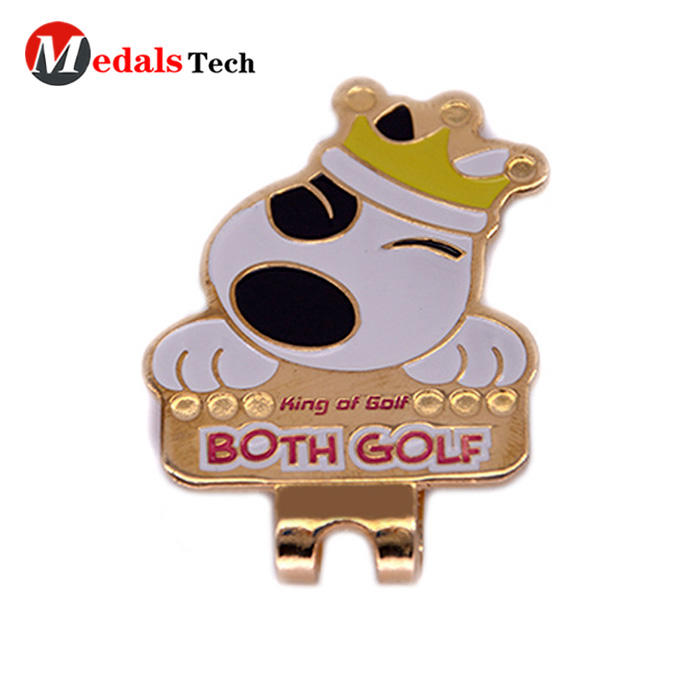 Customized engravedlogo cheap mini metal golf cap clip