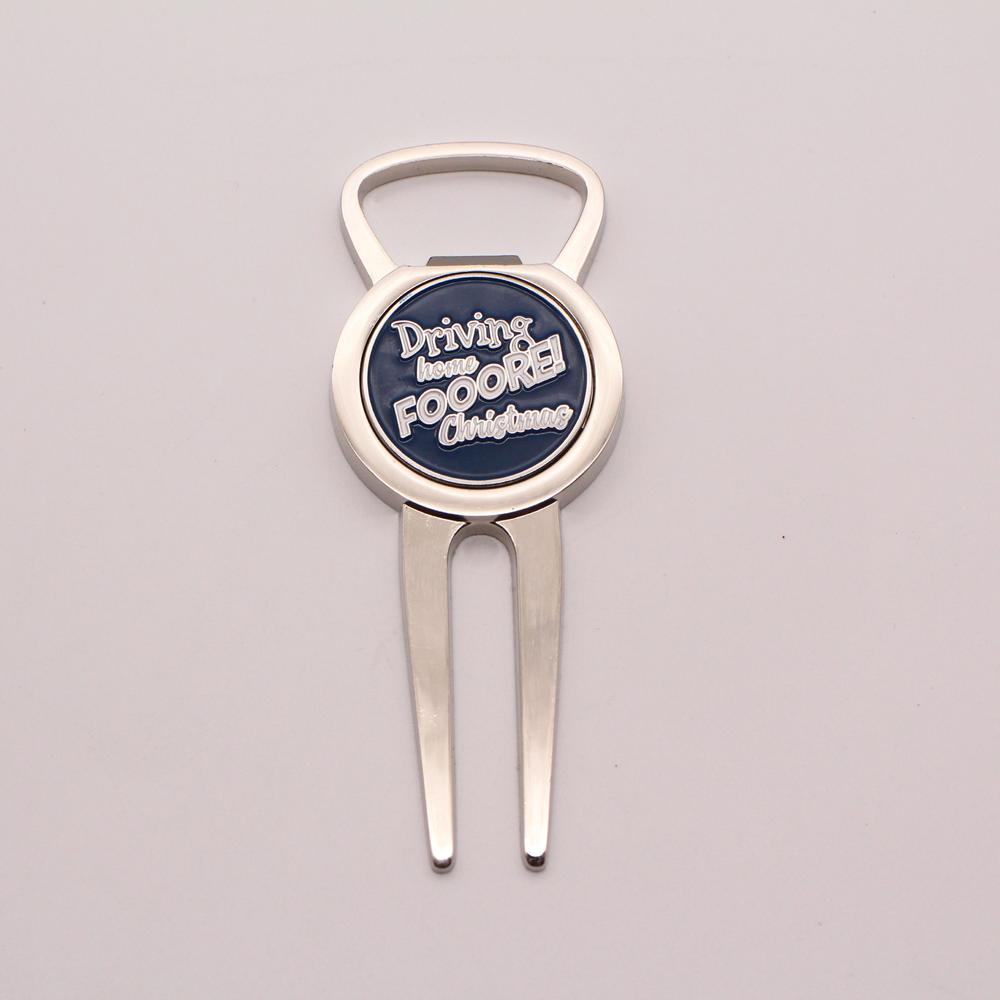 High quality promotional customized ball marker metal golf divot tool bottle opener