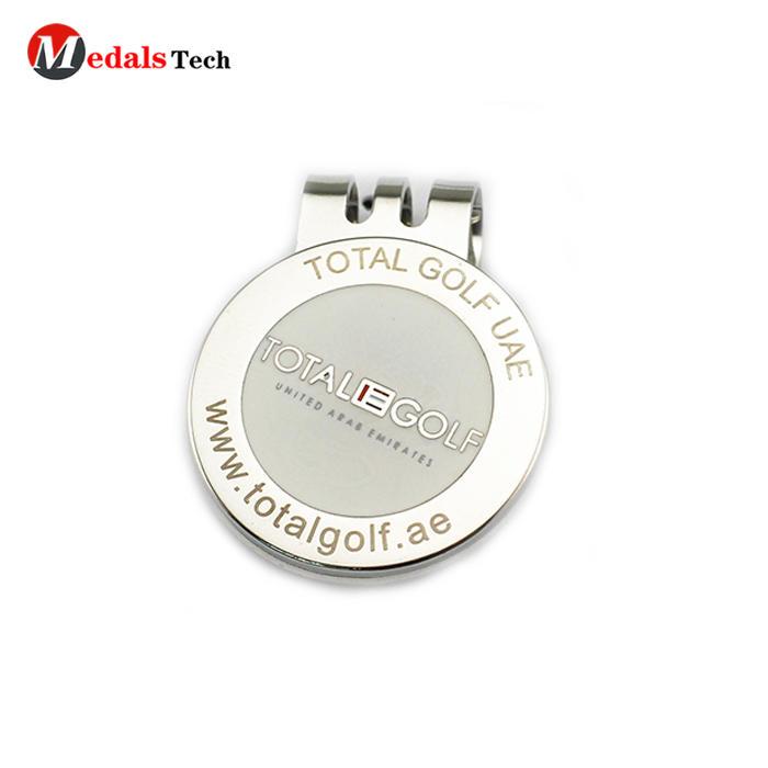 2019 Best selling engraved logo zinc alloy magnet club golf cap clip