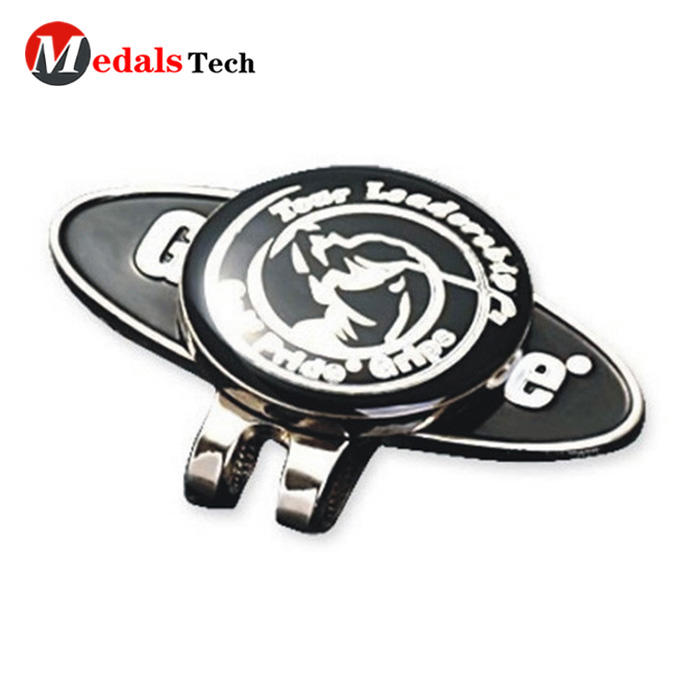 Wholesale custom magnetic golf hat clip with ball marker