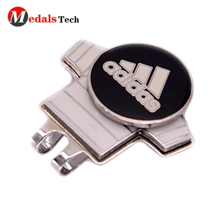 Hot selling custom metal ball marker magnetic mini golf hat clip