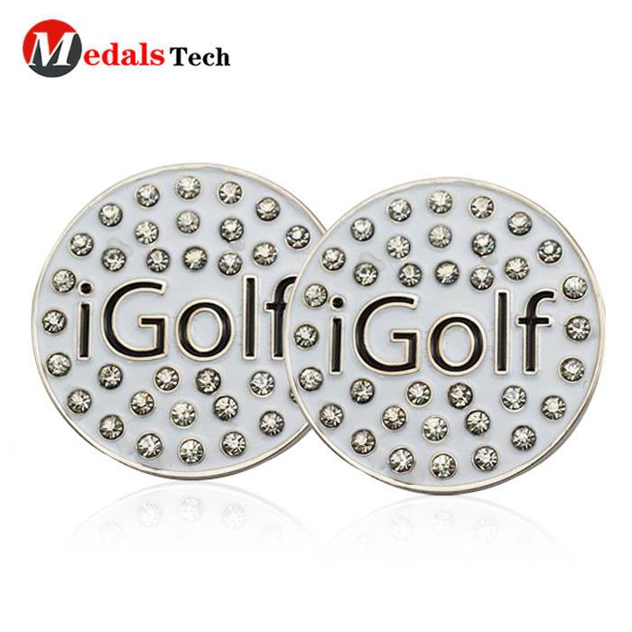 Fashion custom unique metal soft enamel golf ball markers