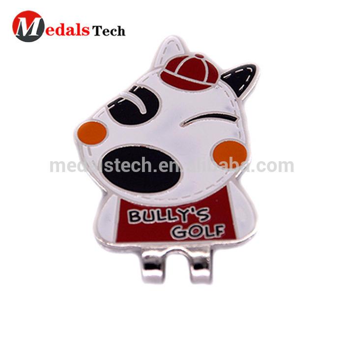 Promotional customized animal golf cap clip,lovely dog golf cap clip