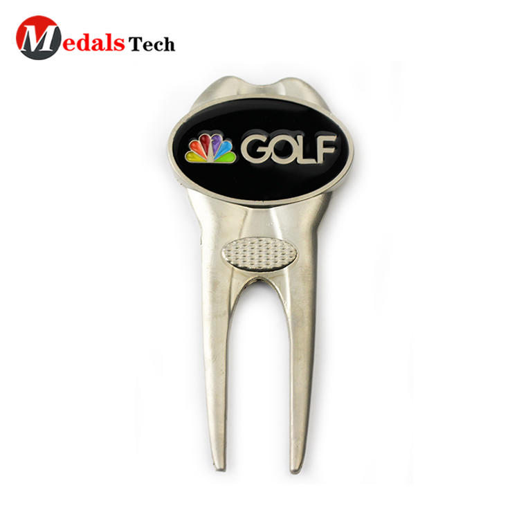 Promotional light antique gold golf club bulk golf divot tool